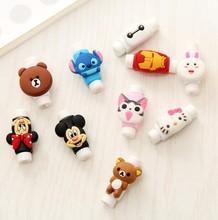 10pcs/lot Cartoon USB Charging Cable Protector colorful Cord Protector Saver For iphone android cable Data Line Protection