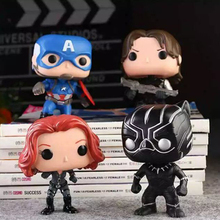 Funko POP Avengers 10cm Boxed Action Figure Toys Captain America Guardians of the Galaxy Black Widow Panther Winter Soldier