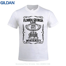 GILDAN O-neck T Shirt Harajuku Tops Tees Moot Cruise Florida Georgia Line Men Design Crew Neck T Shirt White(China)