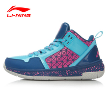 Li-Ning Original Men Basketball Shoe Multicolor Shock Absorption Low Cut Men Lining Basketball Shoe ABPK061(China)