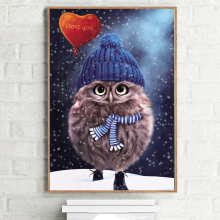 3D Diamond Painting Cross Stitch Pattern 5D Diamond Embroidery Owl diamond Mosaic Resin Home Decor DIY diamond art