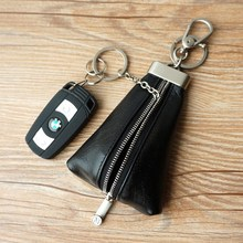 Milesi - New 2014 Brand Genuine Leather Men Car Key Holder wallets Key Chain Purse Coin Novelty Items Birthday Wedding Gift(China)