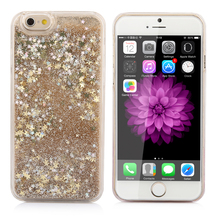 New Style Glitter Bling Colorful Dynamic Quicksand Star Liquid Hard Back Cover Clear case For iPhone 7 For iphone7 7 Plus YC1139