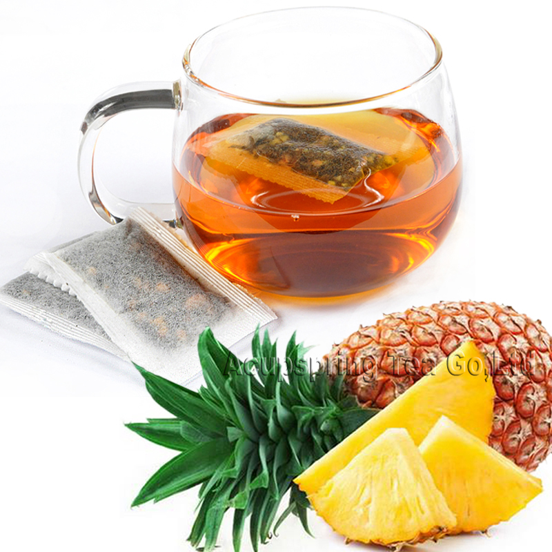 100pcs Fragrant Pineapple Flavor Black Teabag,Hongcha,Healthy tea,Free shipping,CTD409