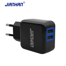 JianHan USB Charger Adapter 5V 2A Universal USB Travel Charger EU Plug Wall Charger for iPhone Samsung LG Sony Charger Tablet(China)