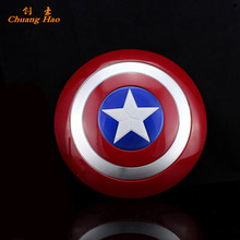 The Avengers Captain America Shield Light-Emitting Sound Cosplay property Toy Metallic shield Red/Blue 32CM A097(China)