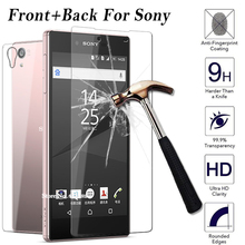 2pcs Front + Back Tempered Glass Screen Protector Case For Sony Xperia Z L36h Z1 L39h Z2 Z3 Z4 Z5 Mini Compact Plus M4 M5 Film(China)