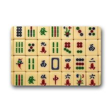 Memory Home China Mahjong Doormat Outdoors Indoor Machine Washable Home Floor Mats Rugs Kitchen Bathroom Funny Carpet