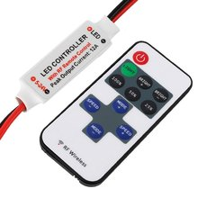 1Pc Mini RF Wireless Led Remote Controller Led Dimmer Controller For Single Color Light Strip SMD5050/3528/5730/5630/3014