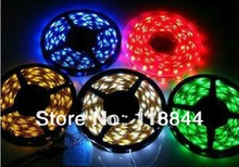 5m/lot Flexible SMD 1210 RGB Waterproof LED Strip Light Ribbon Tape Christmas Party Car Indoor Decoration Free Shipping(China)