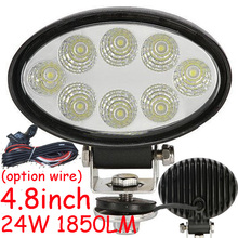 "Only 36USD/PCS,4.8"" 24W 1850LM 10~30V,6500K,LED working light;Free ship!Optional wire;motorcycle light,forklift,tractor light"