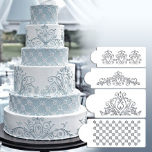 Princess Lace Cake Stencil Set, Cake Craft Stencils,Cake Border Stencils Set, Decorating cake stencil, Fondant DecotrationST-219