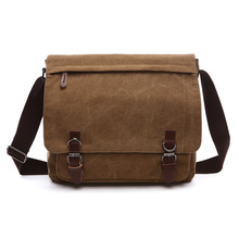 B22 Hot Sale!! New Arrive Men Canvas Bag Vintage Messenger Bag Brand Business Casual Travel Shoulder Bag Laptop Bag Male Bolsa