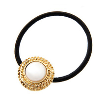 New Korean Women Flower Headwear Accessories Rhinestone Imitation Pearls Beads Elastic Hair Band Ponytail Holder Hairbands 1A127