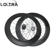 LOLTRA 700C 88mm tubular fixed gear(track) carbon bicycle wheels flip flop wheels 23mm 25mm rim Width(China)