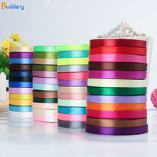 Buddery 1cm x 22m Long Silk Satin Ribbon 6mm Wide Party Home Wedding Decoration Gift Wrapping Christmas New Year DIY Material(China)