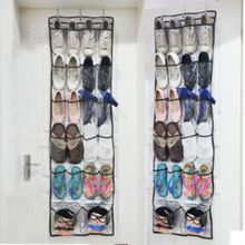 FUNIQUE Shoes Storage Bag After The Door Cloth Bag Hanging Basket Oxford Cloth 22 Doors Shoes Hanging Hook Bedroom(China)