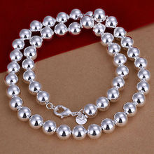 New wholesale 925 silver ball chain necklace fine jewelry Buddha Beads necklace Free Shipping LKN097
