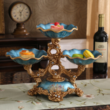 fruit dried fruit bowl Vintage American double disc ornaments Home Furnishing living room coffee table decorations(China)