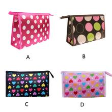 New Designer Superior Quality Multi Color Pattern Cute Color Multi-Function Cosmetic Bag Satin Material traveling bag(China)
