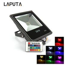 6pcs Led Street Floodlight RGB 10W 20W 30W 50W Outdoor Led Spotlight Waterproof Light IP65 AC85-265V Led flood Light Led Lamp(China)