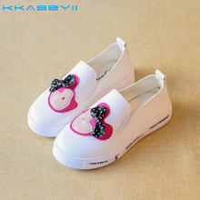 KKABBYII Kids Girls Sneakers Shoes Cartoon Minnie Leather Flats Shoes For Children Casual board shoes