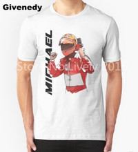Cool Germany Michael Schumacher T-shirts Formula One driver T Shirt Funny Design Customized Men  Cotton t Shirts
