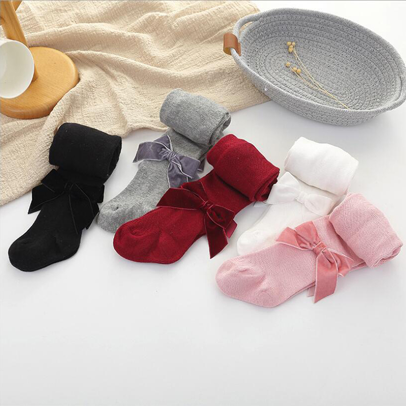 Baby Girls /& Girls Knee High Spanish Style Ribbon Bow Socks Stocking 0-10 Years