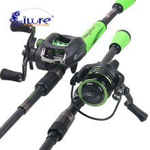 iLure 2017 New Super 1.98-2.1 Mt Lure Portable Telescopic Fishing Rod + 3000 Series Spinning Fishing Reel Angel Fishing Set(China)