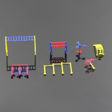 GY10 2sets Fitness Gym Equipment Model Chinese Construction Educational  model train 1:100 1:75 TT OO Scale mini garden