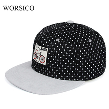 Black Baseball Cap Women Snapback hip hop Cap Men Dot Cotton Skateboard Flat Cap hat For Summer Visor Bone Trucker Caps