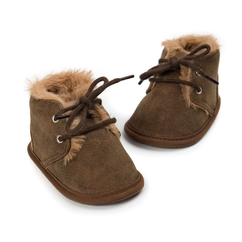 Boy Girl Soft Sole Baby Shoe Infant Toddler Kid Child Winter Fur Boots 0-2Y