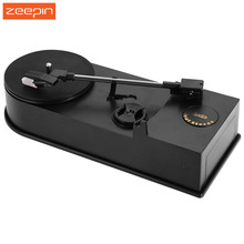 Zeepin EC008B USB Mini Phonograph Turntable Record Audio Player  Vinyl Turntable to MP3/WAV/CD Converter Support 33 45PRM