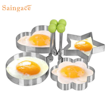 Stainless Steel Fried Egg Shaper egg Pancake Ring Mould Mold Kitchen Cooking Tools Stainless Steel DROP SHIP