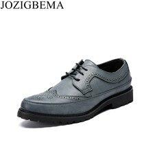 2eb239477 JOZIGBEMA Novos Negócios Homens Bullock Sapatos Estilo de Moda Sapatos De Couro  Homem Sapato Social Masculino