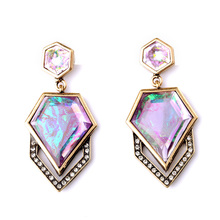 New Design Geometric Hanging Earrings Concise Style Fashion Jewelry Perfume Women Drop Earrings My Orders(China)