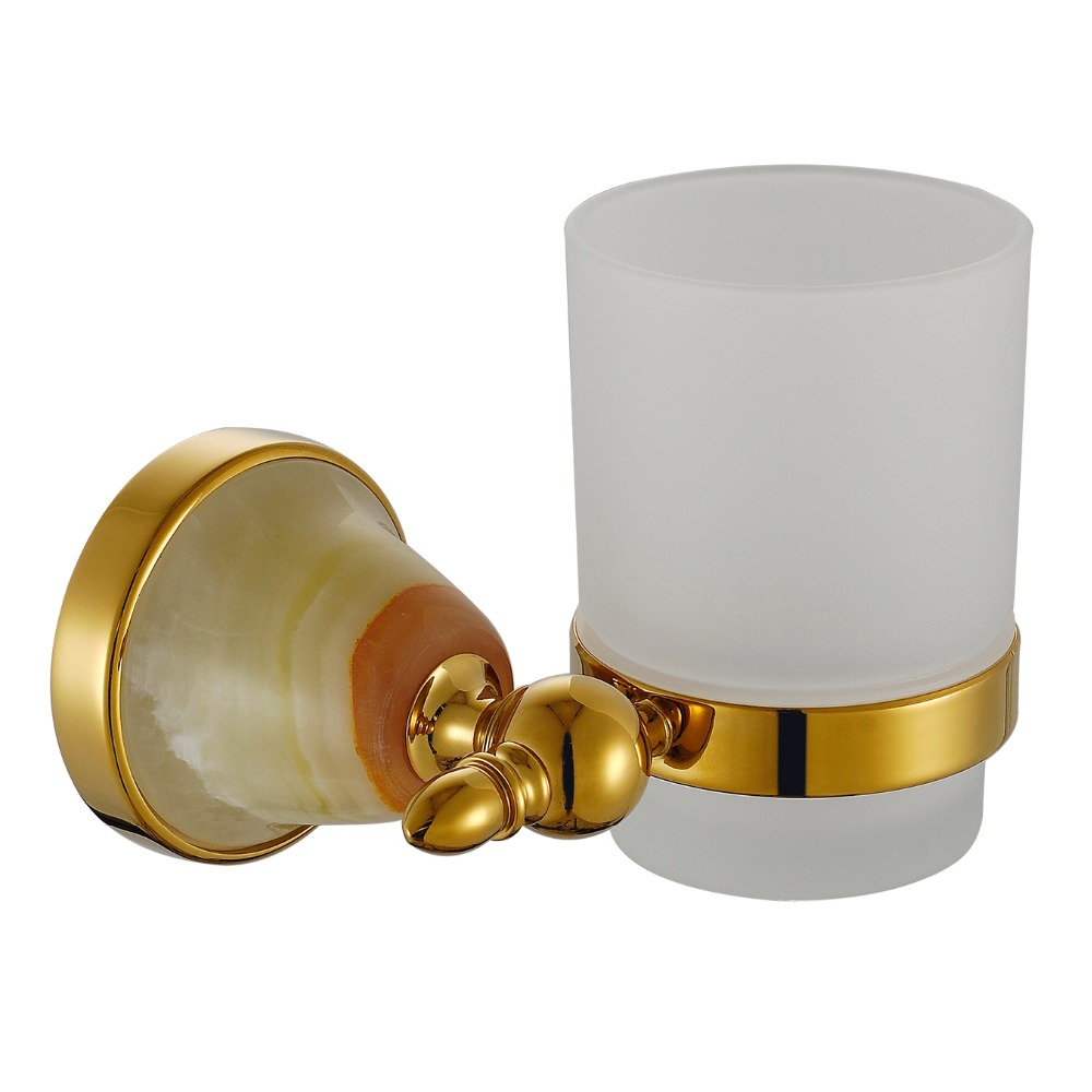 Single Tumbler Holder/Toothbrush Holder Wall Mounted Sapphire Luxury Cup Holder with Copper<br><br>Aliexpress