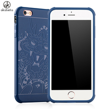 AKABEILA Luxury Mobile Phone Case For iPhone 6S iPhone6S 6 Covers Dragon Embossed Soft TPU Back Covers Shield Smartphone Hood(China)
