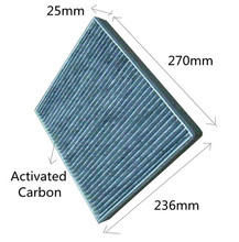 CF-127 Free Shipping WIX24814 Manufacture 765809248144 Activated Carbon Car Cabin Air Filter C45527 for HUMMER 270*236*25mm