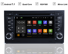 7''Head Unit Car Stereo DVD GPS Player For Audi A4 S4 Seat Exeo Quad Core Android 7.1 RK3188 Radio BT OBD DVR WIFI/3G 1024*600