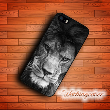 Fundas Animal Lion Case for iPhone X 8 7 6S 6 5S SE 5 5C 4S 4 Plus Case Cover for iPod Touch 6 5 Case.(China)