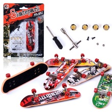 Mini finger skateboard Skate park finger board with tools accessories alloy stand funny desktop table game toy for Children kids(China)