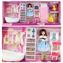 Free Shipping Battery Powered Water Spray Bathtub Plastic Toy Miniature Dollhouse Furniture Accessories for Barbie Girl Toy