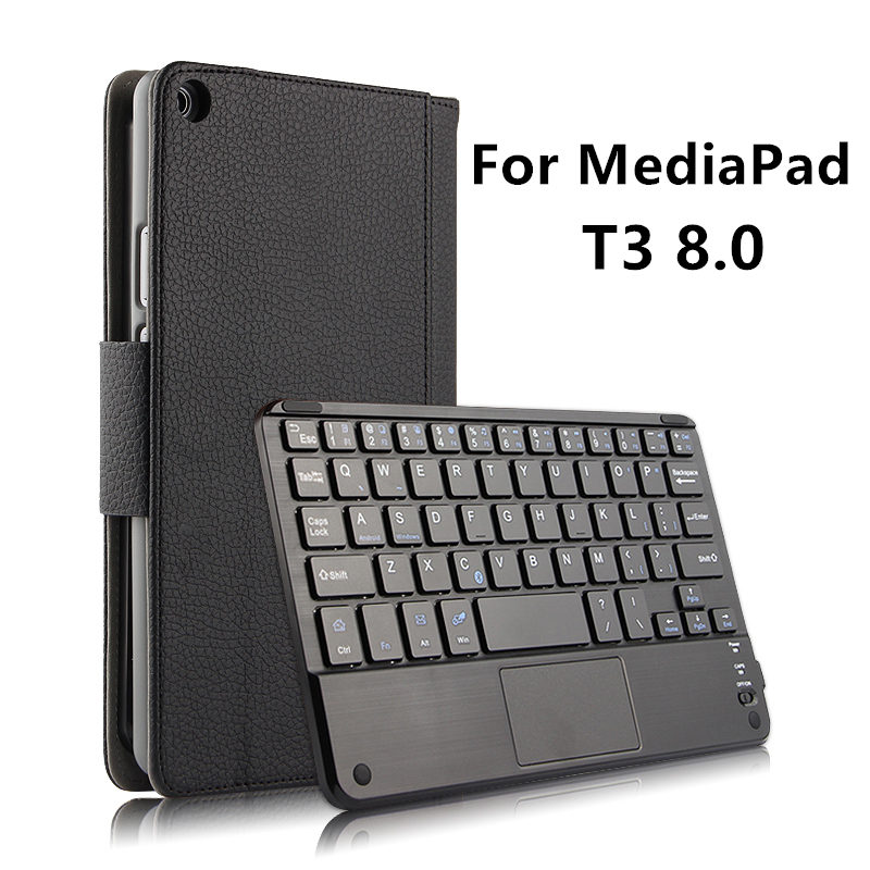 Case Wireless Bluetooth keyboard For Huawei MediaPad T3 8.0 Honor Play Tablet 2 8 Protective Leather KOB-W09 KOB-L09 T38 cover <br>