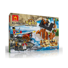 Pirate Series 109PCS Building Blocks Pirates Paradise Model Assembly DIY Gifts For Children Bricks Compatible With lepin Wange