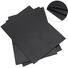 1Pc Durable ABS Styrene Plastic Plate High Quality ABS Plastic Flat Sheet 300mm x 200mm x 3mm Black