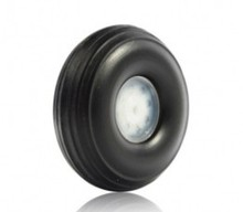"1.75"" PU wheel with plastic hub 1.75 inch (D44.45 x H16x 3mm) for RC Airplane(China)"