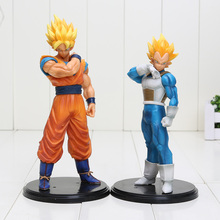 2pcs/lot 18-20cm Dragon Ball Z Action Figures Son Goku Super Saiyan Vegeta Dragonball Z PVC Figures Toys
