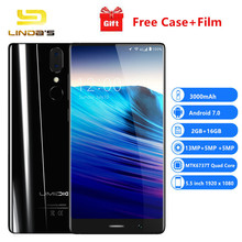 Best Umidigi Crystal Smartphone Android 7.0 5.5''4G LTE Mobile 13MP MTK6737T Quad Core 3000mAh 2GB16GB Unlocked OTG Cellphone(China)