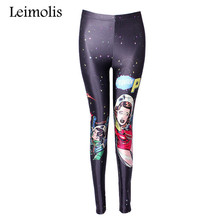 Buy Leimolis 3D printed fitness push workout leggings women gothic pop art space girl plus size High Waist punk rock pants for $6.90 in AliExpress store